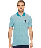 U.S. POLO ASSN. - Classic Fit Color Block Short Sleeve Pique Polo Shirt