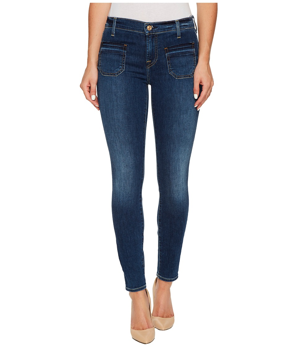 7 For All Mankind - The Ankle Skinny w/ Front Released Pockets in Stunning Bleeker 3