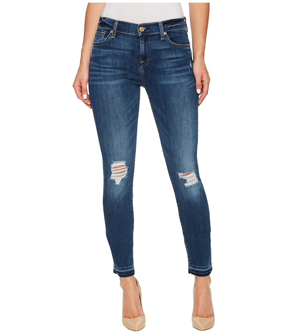7 For All Mankind - The Ankle Skinny w/ Released Hem Destroy in Stunning Bleeker 2