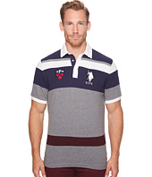 U.S. POLO ASSN. - Classic Fit Color Block Short Sleeve Pique Polo Shirt