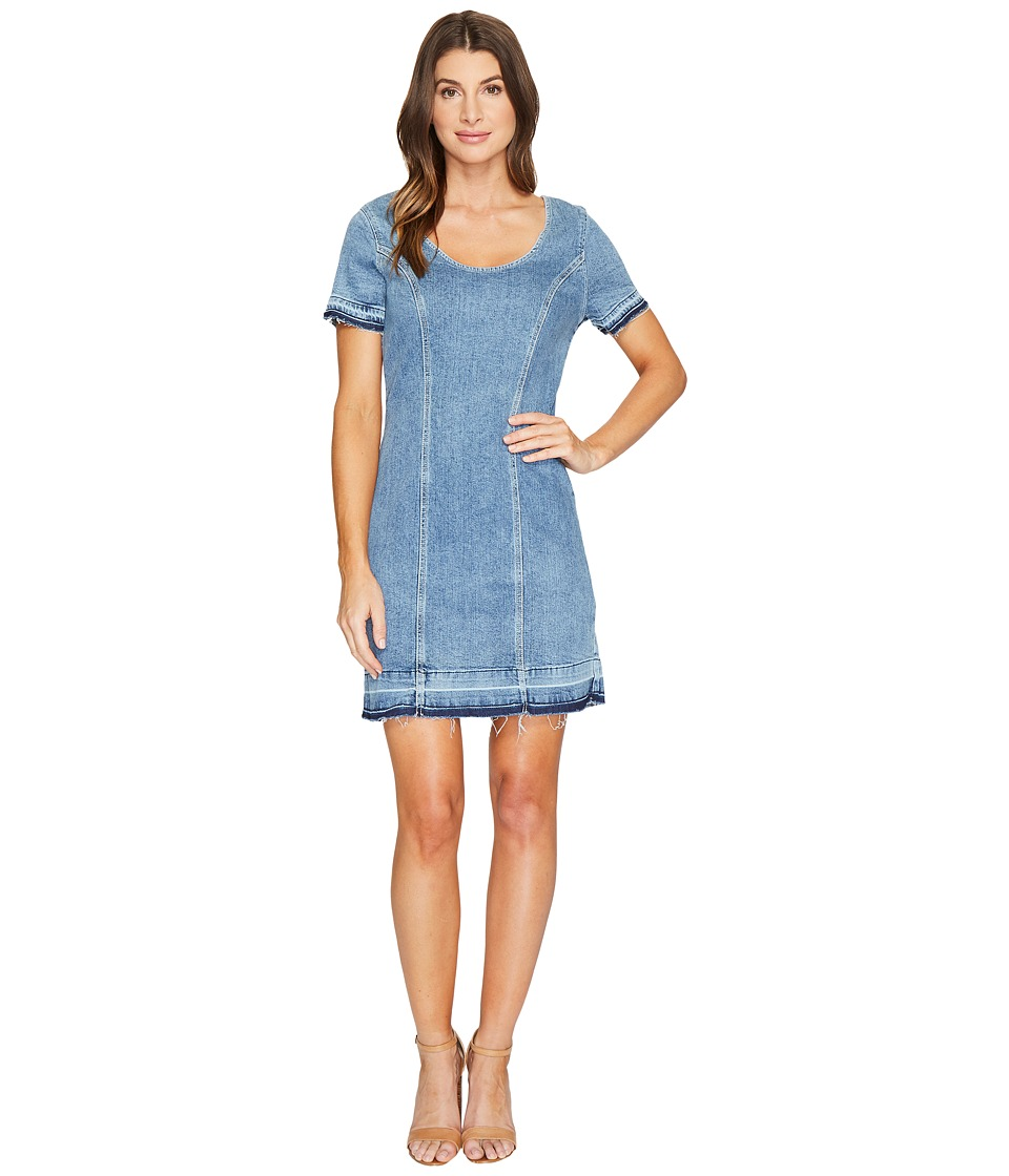 7 For All Mankind 7 For All Mankind - Short Sleeve Shift Dress w/ Released Hem Rockaway in Beach 2