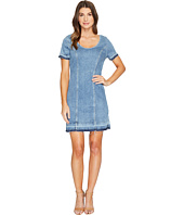 7 For All Mankind - Short Sleeve Shift Dress w/ Released Hem Rockaway in Beach 2