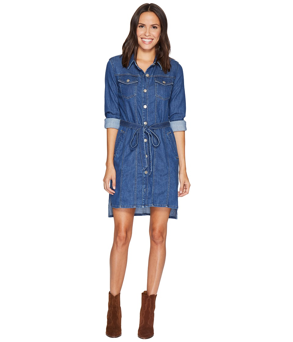 7 For All Mankind 7 For All Mankind - Long Trucker w/ Belt Dress in Sunrise
