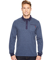 U.S. POLO ASSN. - Classic Fit Striped Long Sleeve Pique Polo Shirt