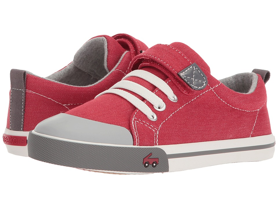 See Kai Run Kids Stevie II (Little Kid) (Red/Gray) Boy's Shoes