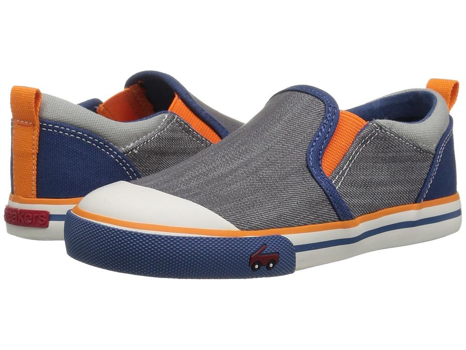 See Kai Run Kids - Slater (Toddler/Little Kid) (Gray/Blue) Boys Shoes