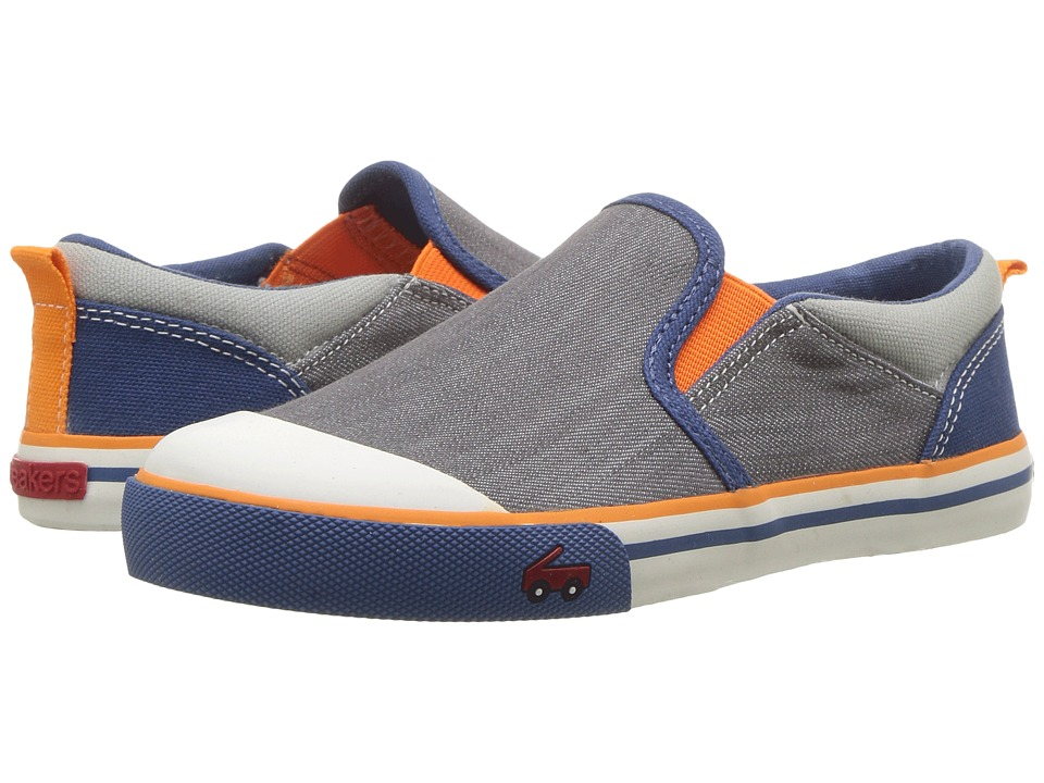 See Kai Run Kids - Slater (Little Kid) (Gray/Blue) Boys Shoes