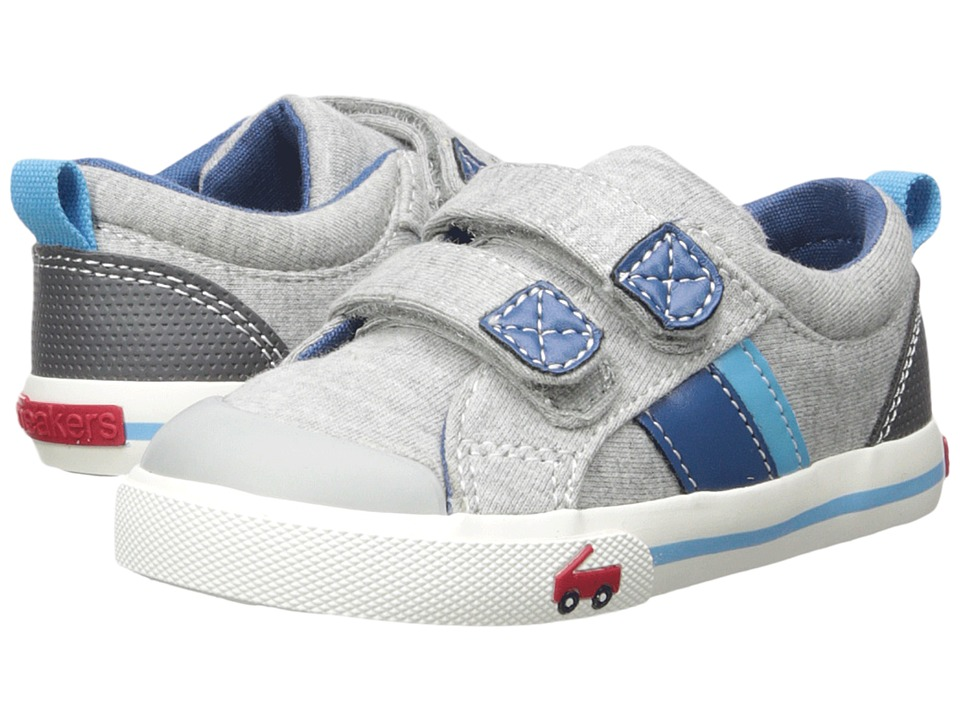 See Kai Run Kids Russell (Toddler/Little Kid) (Gray Jersey) Boys Shoes