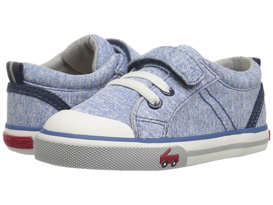 See Kai Run Kids Tanner (Toddler/Little Kid) (Blue Jersey) Boy's Shoes
