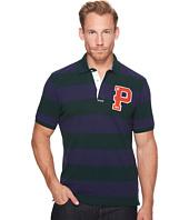 U.S. POLO ASSN. - Classic Fit Striped Short Sleeve Pique Polo Shirt