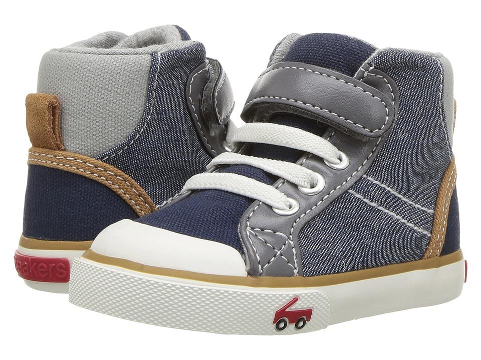See Kai Run Kids - Dane (Toddler/Little Kid) (Chambray Multi) Boys Shoes