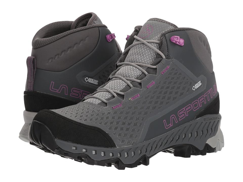 La Sportiva - Stream GTX (Carbon/Purple) Womens Shoes