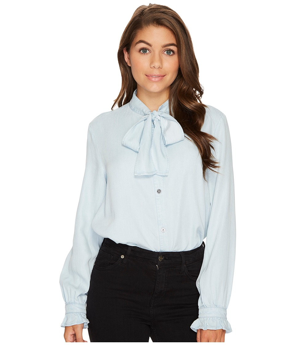 7 For All Mankind - Bow Tie Denim Shirt in Sunrise Blue