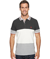 U.S. POLO ASSN. - Slim Fit Color Block Short Sleeve Pique Polo Shirt