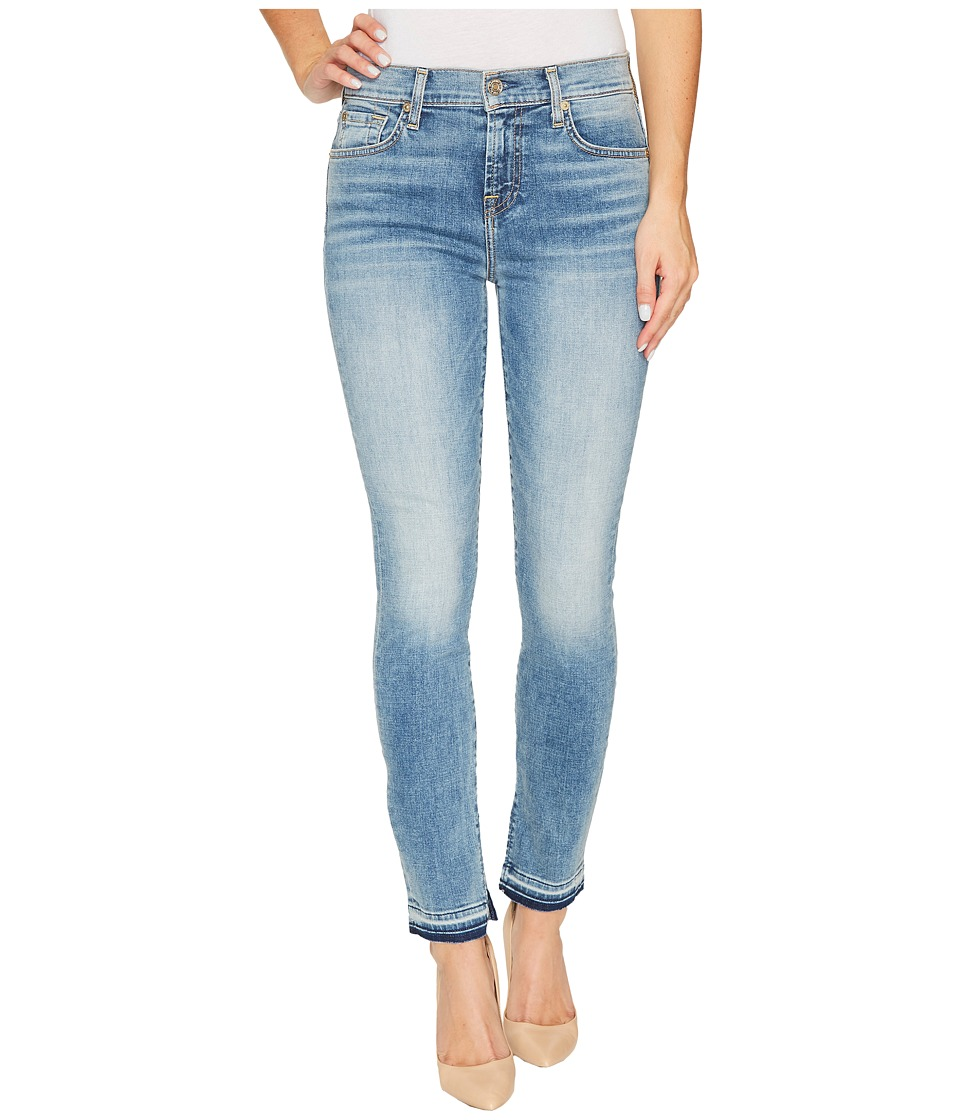 7 For All Mankind 7 For All Mankind - The Ankle Skinny w/ Inside Split Released Hem in Light Lafayette