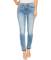 7 For All Mankind - The Ankle Skinny w/ Inside Split Released Hem in Light Lafayette