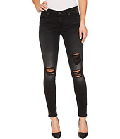 7 For All Mankind - The Ankle Skinny w/ Destroy in Aged Onyx
