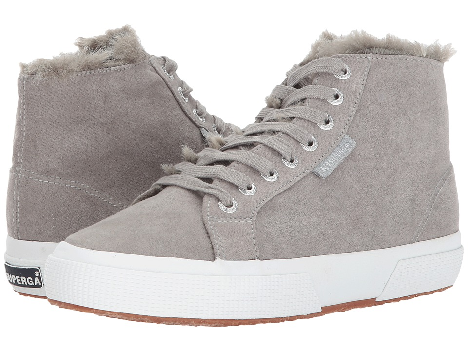 Superga - 2795 Syntshearlingw (Grey) Womens Lace up casual Shoes