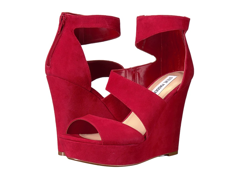 Steve Madden - Essex (Red Suede) Women's Dress Sandals