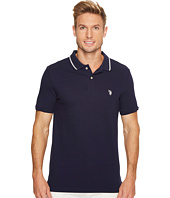 U.S. POLO ASSN. - Slim Fit Solid Short Sleeve Pique Polo Shirt