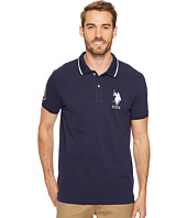 U.S. POLO ASSN. - Slim Fit Short Sleeve Pique Polo Shirt