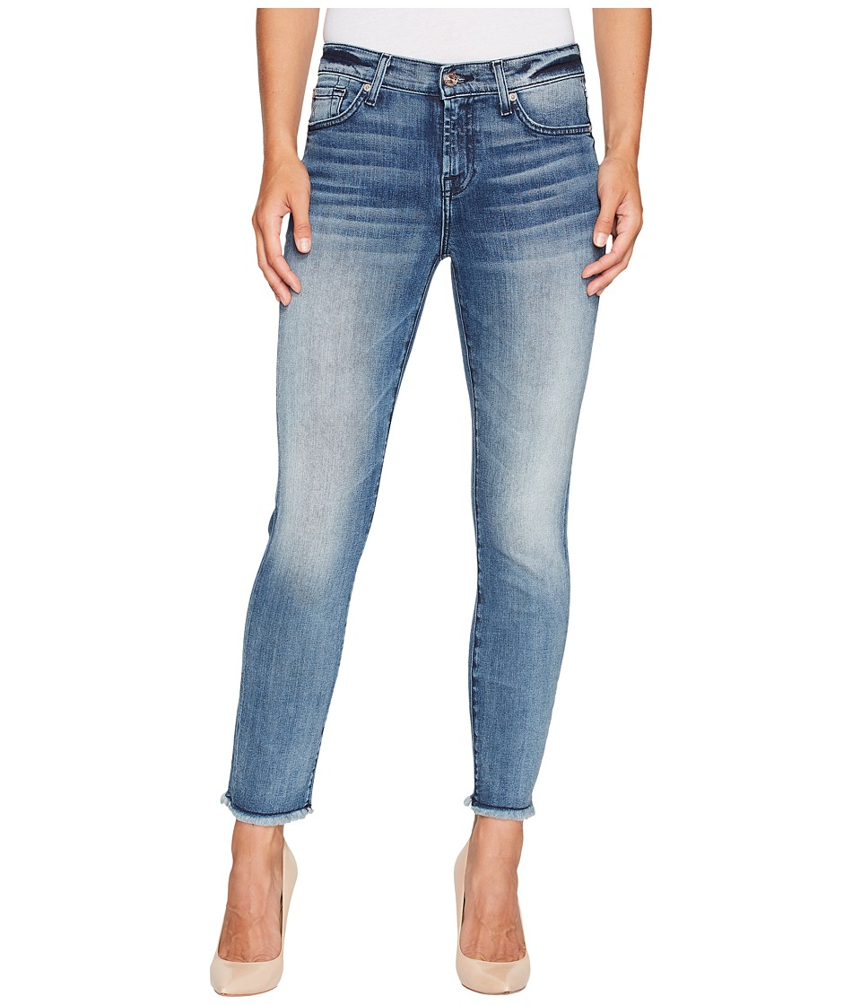 7 For All Mankind - Roxanne Ankle w/ Raw Hem in Wall Street Heritage