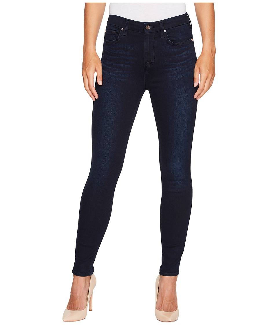 7 For All Mankind - The High Waist Ankle Skinny in Dark Blue Dahlia