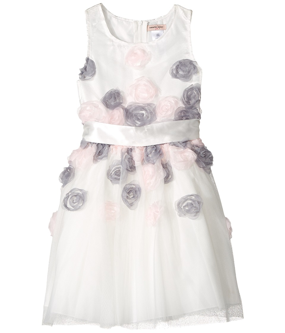Nanette Lepore Kids - Mesh Dress with 3-D Roses