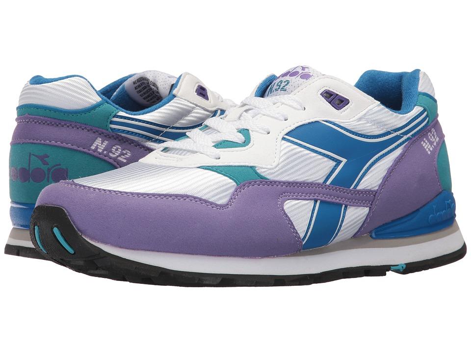 Diadora N-92 (White/Ultra Violet) Athletic Shoes