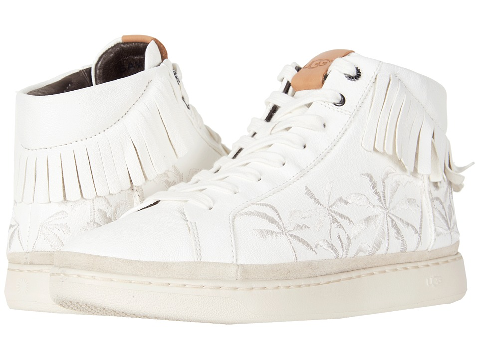 Ugg Brecken Lace High Fringe Palms (White) Men's  Shoes
