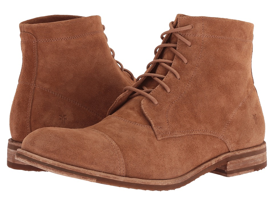 Frye - Sam Lace Up (Brown Suede) Mens Lace-up Boots