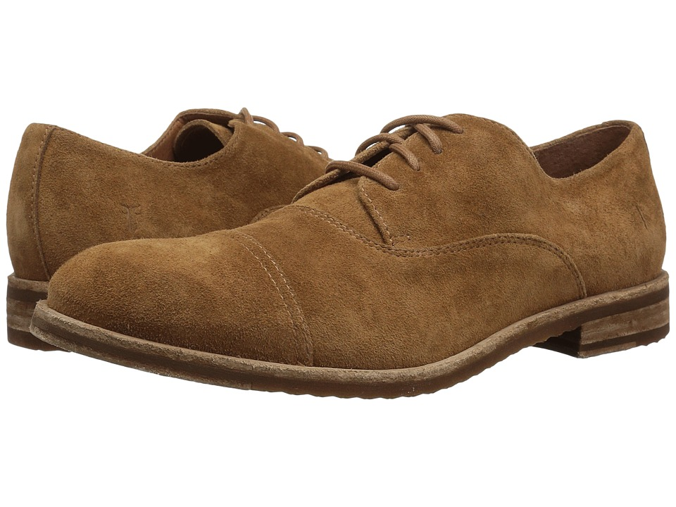 Frye - Sam Oxford (Brown Suede) Mens Lace Up Cap Toe Shoes