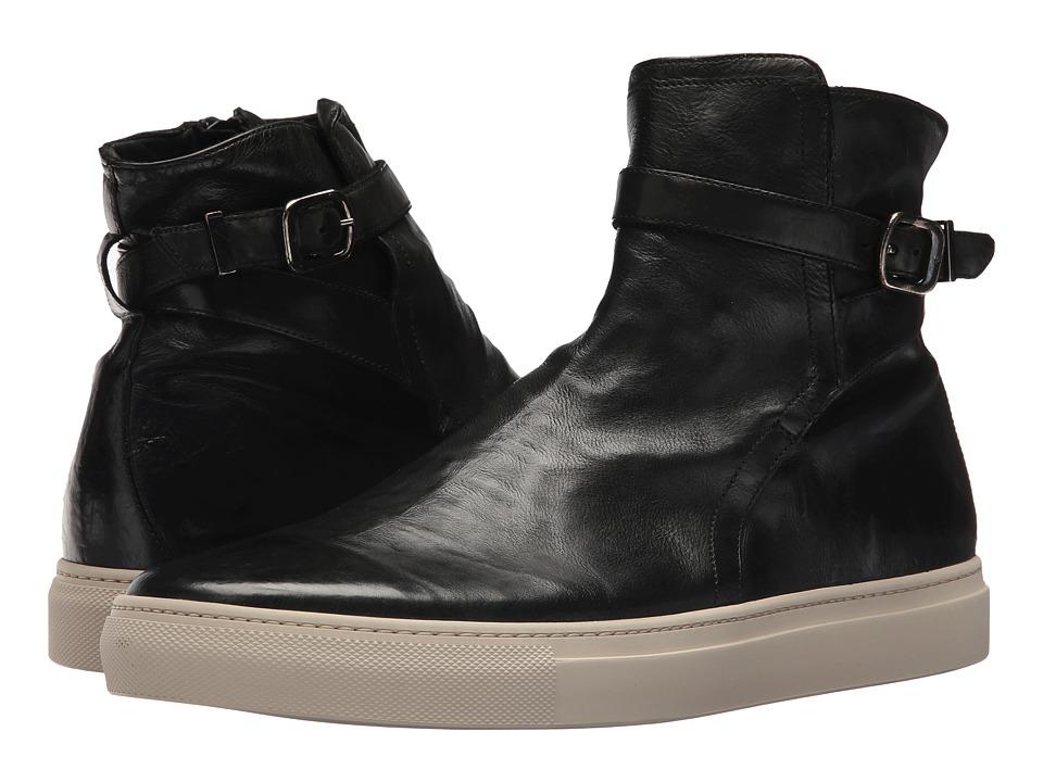 Frye - Owen Jodhpur (Black Tumbled Waxed Calf) Mens Pull-on Boots