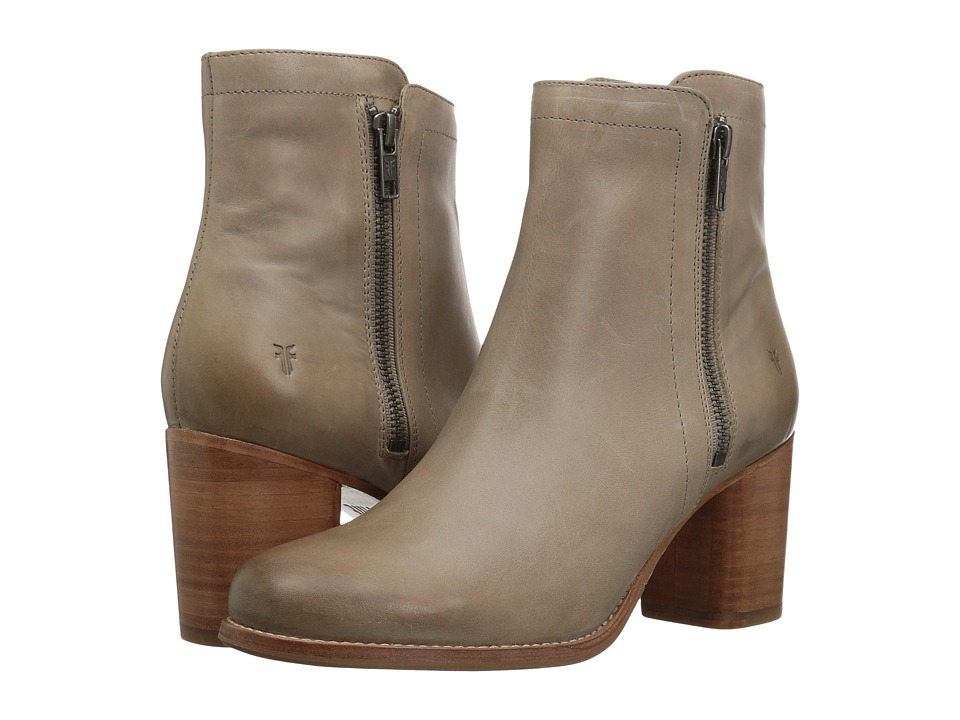 Frye - Addie Double Zip (Grey Waxed Pull Up) Womens Boots