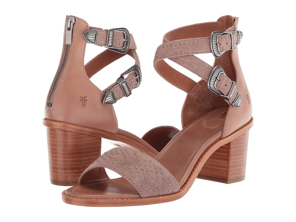 Frye Brielle Western Two-Piece (Dusty Rose Oiled Suede/Waxy Pull Up) Women's Hook and Loop Shoes