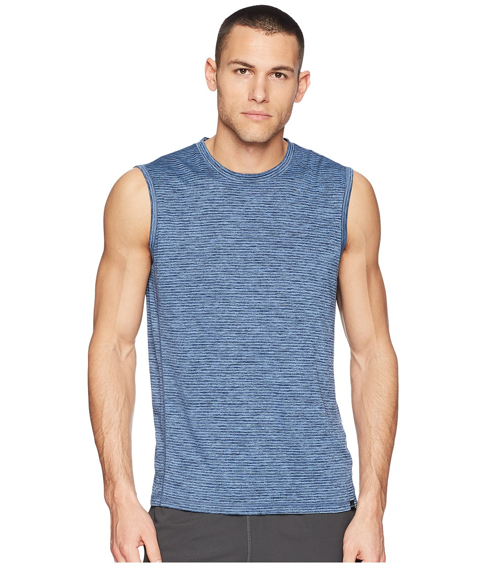 Prana Hardesty Sleeveless (Sunbleached Blue Stripe) Men