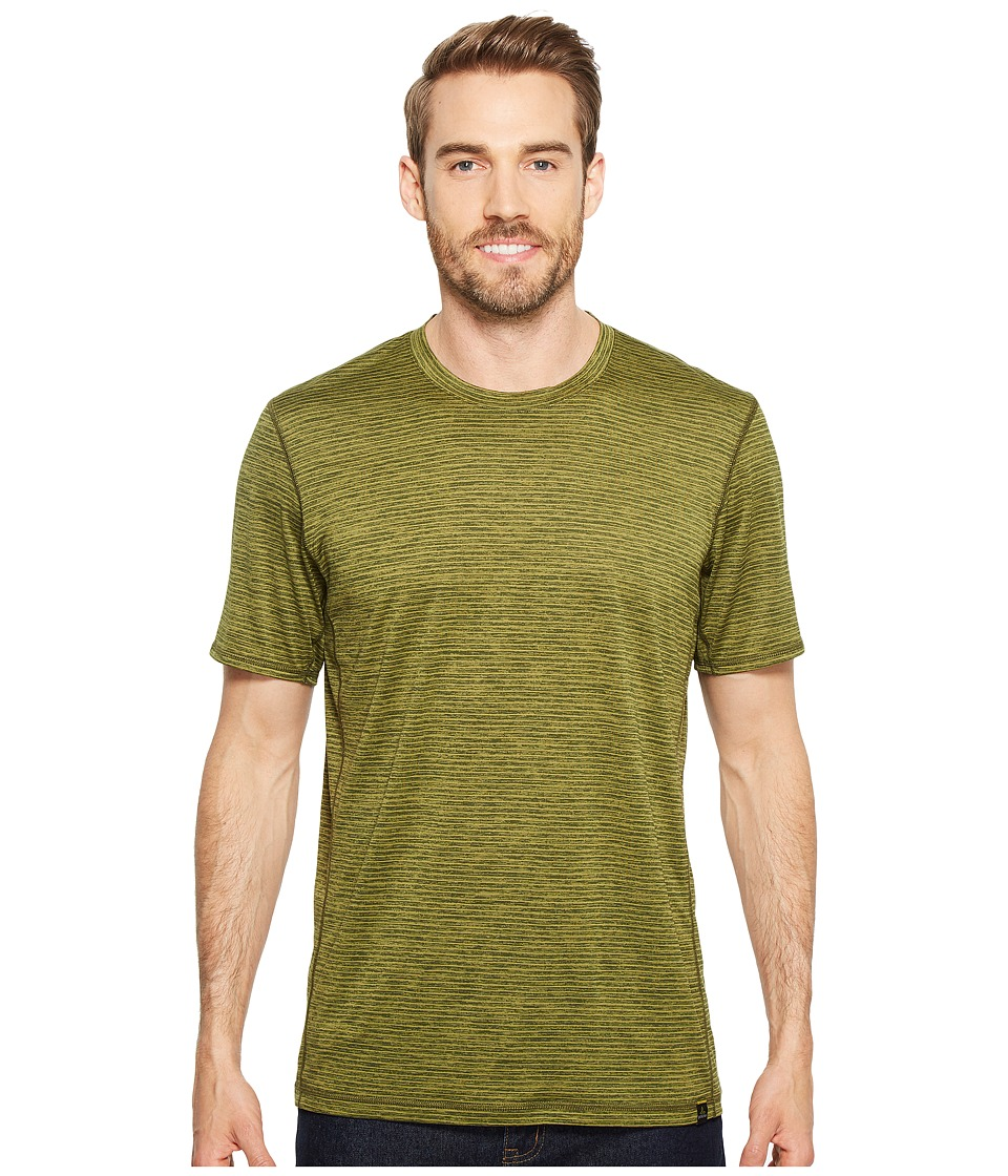 Prana Hardesty T-Shirt (Fern Green Stripe) Men
