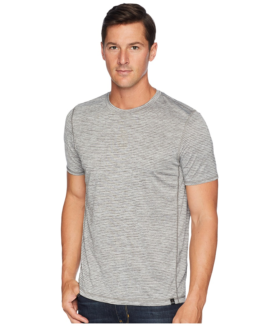 Prana Hardesty T-Shirt (Titanium Grey Stripe) Men