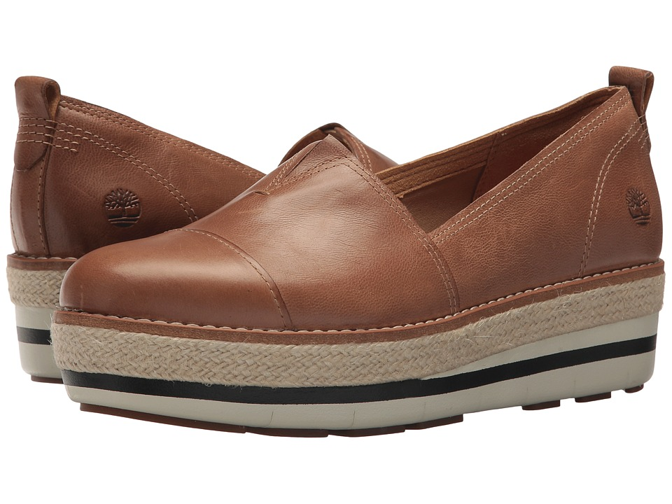 Timberland - Emerson Point Slip-On (Light Brown Full Grain) Womens Slip on  Shoes