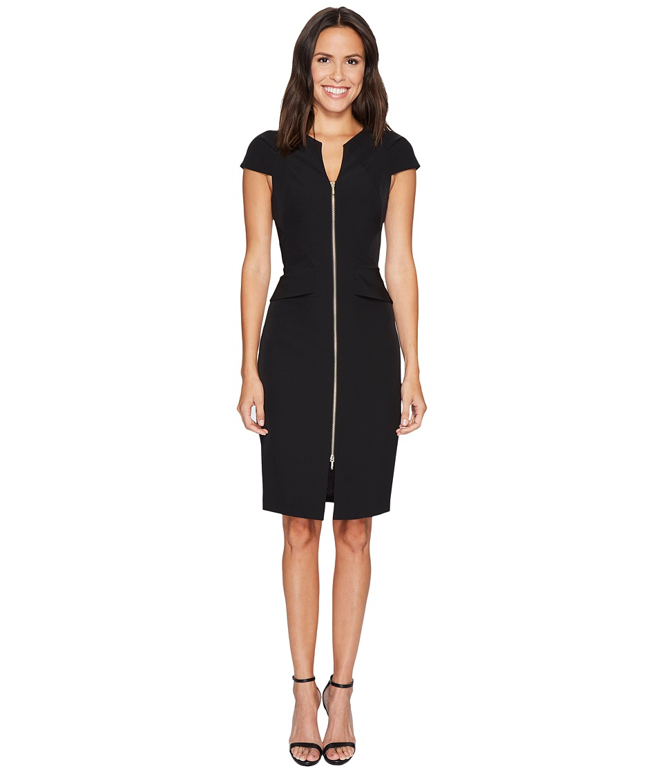 Ted Baker Fearnid Architectural Pencil Dress (Black) Women