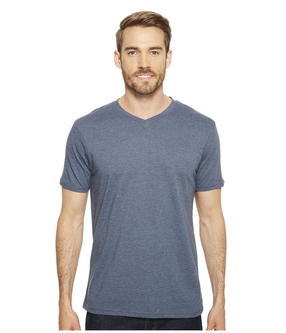 Prana - prAna(r) V-Neck Tee (Denim Heather) Mens Short Sleeve Pullover