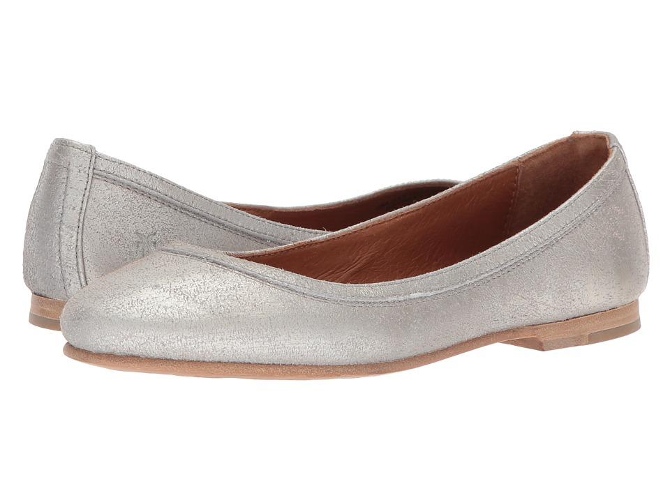 Frye Carson Ballet (Silver Metallic) Flats