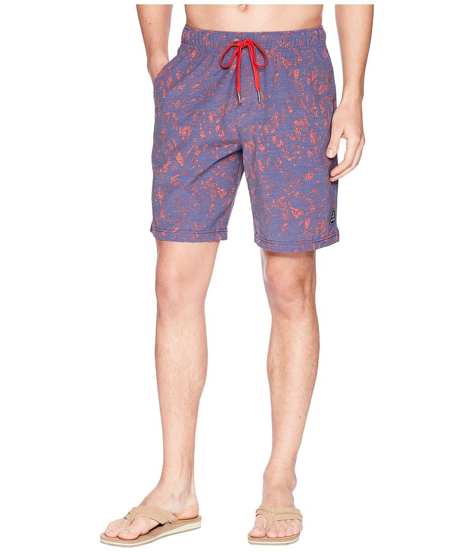Prana - Metric E-Waist Shorts (Indigo Waimea) Mens Swimwear