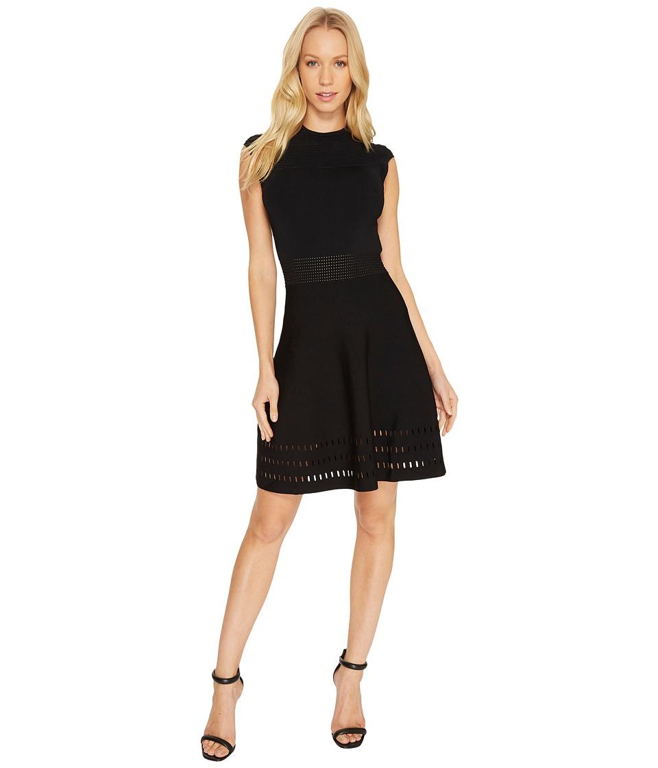 Ted Baker Aurbray Knitted Skater Dress (Black) Women