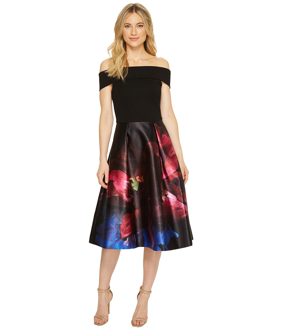 Ted Baker - Kimey Impressionist Bardot Dress (Black) Womens Dress