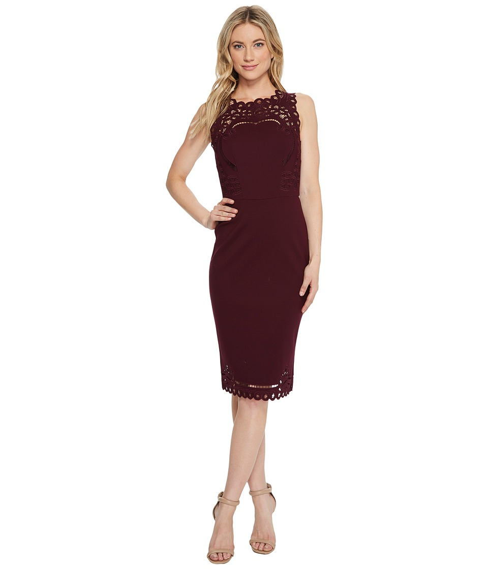 Ted Baker Verita Cut Out Detail Bodycon Dress (Maroon) Women