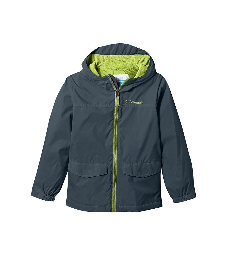 Columbia Kids - Rain-Zillatm Jacket (Little Kids/Big Kids) (Mystery/Acid Green/Acid Green Logo) Boys Coat