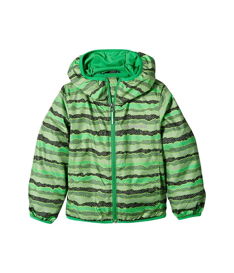 Columbia Kids - Pixel Grabber IItm Wind Jacket (Little Kids/Big Kids) (Cyber Green Stripe/Fuse Green) Boys Coat