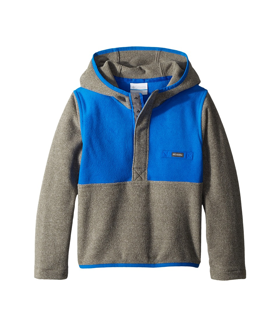 Columbia Kids - Mountain Side Fleece Hoodie (Little Kids/Big Kids) (Charcoal Heather/Super Blue) Boys Sweatshirt