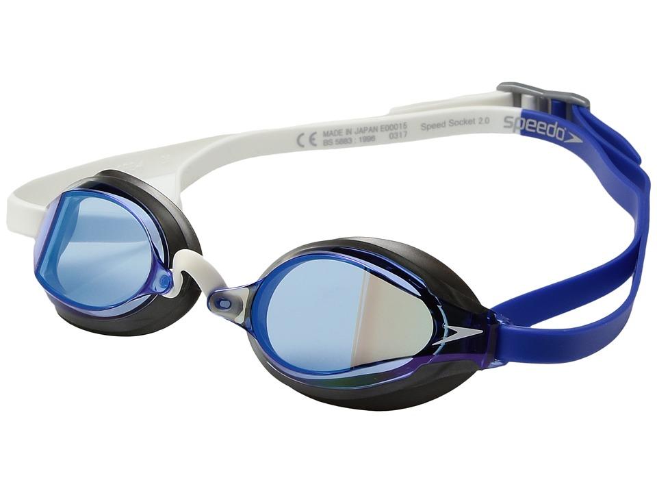 Speedo Speed Socket 2.0 Mirrored (Dazzling Blue) Water Go...